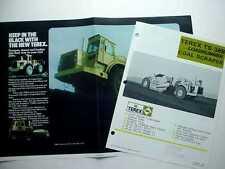 Terex Ts-38B & Ts-46B Coal Scraper Literature & Poster