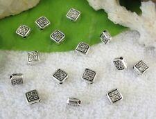 160pcs Tibetan Silver square spacer beads FC10054