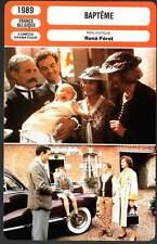 BAPTEME - Stroh,Bonnaffé,Féret (Fiche Cinéma) 1989