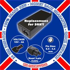 16v 4a Sony Vaio Pcga-ac16v6 Adaptador Laptop Cargador Psu