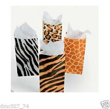 Birthday Party ZOO SAFARI Party Favor ANIMAL PRINT Goody Treat PAPER BAGS Sacks