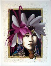"J.D Challenger ""Gray Birds"" Serigraph Hand Signed Native American Make an Offer"