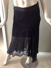 d19bb1b1a6 GUESS by Marciano Felicia Silk Black Asymmetrical Skirt Size 4