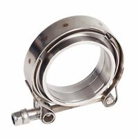"""4 Pieces Downpipe Intercooler Turbo 3/""""ID V-BAND CLAMP /& FLANGES KIT MILD STEEL"""