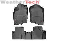 WeatherTech FloorLiner Mats for Honda Insight w/Ret - 10-14 - 1st/2nd Row Black
