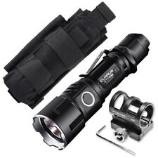 Klarus XT11GT Flashlight -2000Lm w/Battery, GM02 Gun Mount +Tactical Holster