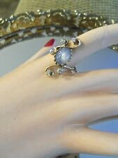 """14 KT NATURAL BLUE STAR SAPPHIRE / DIAMOND RING  """"MUST SEE"""""""