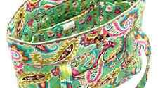 Vera Bradley Tote Purse Bag Tutti Frutti 6 Inside 2 External Pockets Green Pink