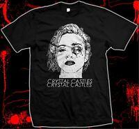 Crystal Castles - Hand silk screened, Pre-shrunk 100% Cotton t-shirt