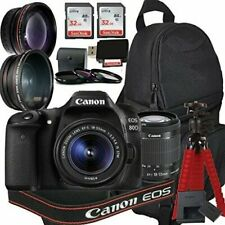 Canon EOS 80D Digital SLR Camera with EF-S 18-55mm IS STM Kit + Accessory Bundle