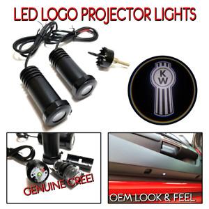 Lumenz LED Courtesy Logo Lights Ghost Shadow for White Kenworth Semi 100649