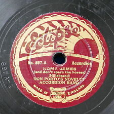 """78rpm 8"""" DON PORTO ACCORDION BAND home james / i`m learning to play the accordio"""
