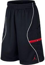Nike Air Jordan 11 XI Basketball Shorts Black Red Bred 632075 010 Size Medium