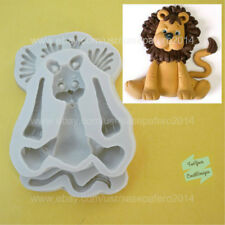 Jungle Safari Animal Lion silicone mold. For fondant, clay, chocolate, resin,