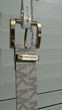 NEW Michael Kors Women's Van/Gold-Tone Logo Monogram Belt 553143C Large Sz