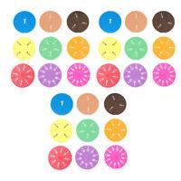 153pcs Arcobaleno Circolare Le Frazioni Di Piastrelle Di Giocattoli Per Bambini