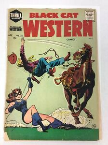 Black Cat Western - Linda Turner rides again - April 1955 - No. 55