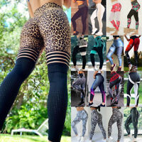 Women Yoga High Waist Sports Leggings Compression Pants Fitness Floral Trousers