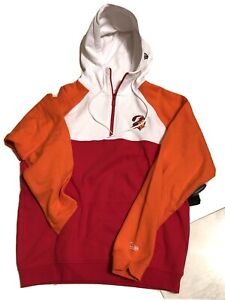 NFL New Era Tampa Bay Buccaneers 1/2 Zipped 2-Pocket Hoodie Pullover Lg. Long Sl