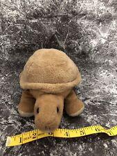 "8"" AURORA DESERT TURTLE PLUSH STUFFED ANIMAL TORTOISE TAN BROWN SOFT CUDDLY TOY"