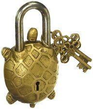 Brass Lock Functional Brass Beautiful Padlocks with Keys Home Decor Handcrafted