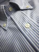 Brooks Brothers Oxford Shirt OCBD Slim Fit - Blue Stripe Supima Cotton USA NWT