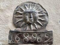 RARE Antique Lead Fire Mark- Sun Insurance Office