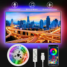 50Ft LED Strip Lights 5050 RGB Music Sync Bluetooth App Remote Control Rope Lamp