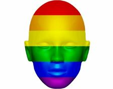 Gay Pride Flag Celebrity Mask, Card Face and Fancy Dress Mask
