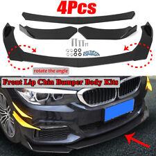 Front Bumper Lip Spoiler Splitter Glossy Black For BMW Sedan E90 E92 E93 E60 E61