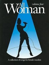 All Woman Volume 4 Book A Collection of Songs for Female Vocalists Voice S137