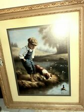 """Home Interiors Boy & Girl Picture Set 29"""" X 25"""" Big & Very Heavy"""