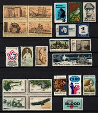 USA, Scott # 1423-1445, COMMEMORATIVE 1971 YEAR SET (24 STAMPS) WITH SCOTT PAGES