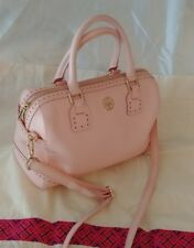 $575 Rare Tory Burch Robinson Spectator Shell Pink Leather Middy Satchel Purse