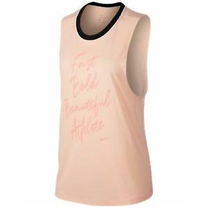 "NWT Nike Dry Legend ""Fast Bold Beautiful Athlete"" Training Muscle Tank Small"