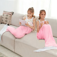 Mermaid Tail Blanket for Kids Teens Adults Flannel All Seasons Sleeping Blanket