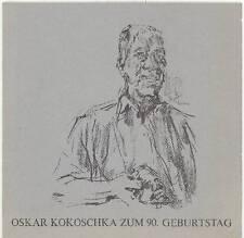 KOKOSCHKA Oskar, Oskar Kokoschka. Zum 90. Geburtstag