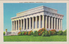 Lincoln Memorial, Washington, D. C., West End of National Mall - Linen Postcard
