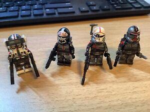 Lot Of 4 BAD BATCH NEW Custom Minifigures Clone Force 99 FREE SHIPPING