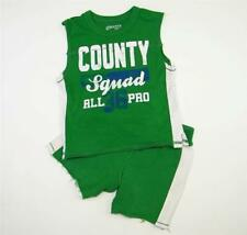 Boys Sz 24m 2pc Children's Place Summer Outfit Activewear Tank Knit Shorts Green