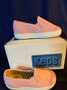 Sneakers Keds  Basic Canvas Classic Slip-Ons Pink NEW Little Girls Size 4 M