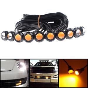 10PCS Yellow Amber 12V LED Bulb Eagle Eye Car DRL Running Turn Signal Light