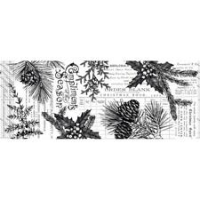 Idea-ology Tim Holtz Collage Paper Forest Christmas 6yd or 5.49 Metres