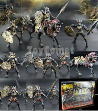 5 pcs Dragon Knight Warrior Horse Medieval Toy Soldier Action Figures Box Set