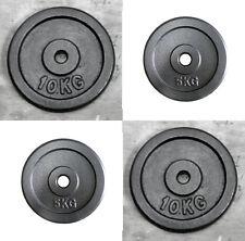 """4 x 10kg & 4 x 5kg Weight Discs (8), Cast Iron 1"""" hole Plates (60kg)"""
