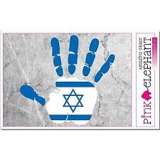 Israel - Hand Palm Finger Print Aufkleber Flag Sticker Motiv Hebrew Israeli