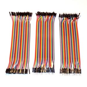 120 pcs - 20 cm - Dupont Breadboard Jumper Cables - MM MF FF