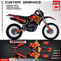 Custom Graphics Sticker for Yamaha WR250F WR400F WR426F 1998 1999 2000 2001 2002
