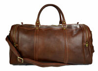 Borsone pelle uomo donna marrone opaco borsa viaggio con tracolla borsa cabina