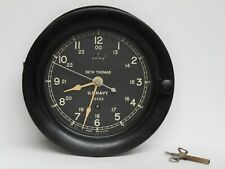 Seth Thomas US Navy Ship's Clock #93423 WWII Vintage Fantastic Condition Works!